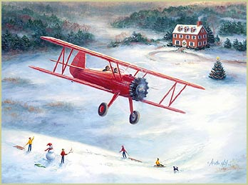 kristin hill aviation artist recent paintings prints exhibits articles awards flights commissions artwork gicle prints original paintings - Aviation Christmas Cards